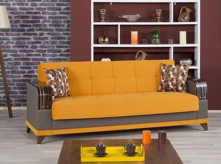 Almira Almirasbro 85 Wide Convertible Sofa With 2 Pillows  Storage Under The Seats  Tapered Legs And Fabric Upholstery In Riva