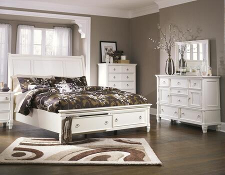 Prentice Collection 3-piece Bedroom Set With Queen Size Storage Bed  Dresser And Mirror In