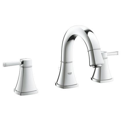 Grohe 2041800A Grandera 8 Widespread Two-Handle Bathroom Faucet, Small,  Starlight