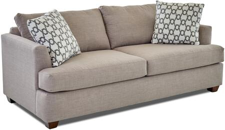 Jack Collection K49500-S-FS-WS 85 inch  Sofa with Fabric Upholstery  Recessed Arms and Tapered Block Feet in