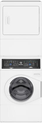 "SF7000WE 27"" Electric Stacked Washer and Dryer with Stainless Steel Tub  Balance Technology  Control Lock  Moisture Sensor  in"