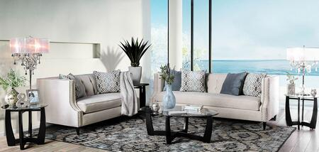 Tegan SM2217-SFLV3PK 5-Piece Living Room Set with Sofa  Loveseats  Coffee Table and 2 End Tables in