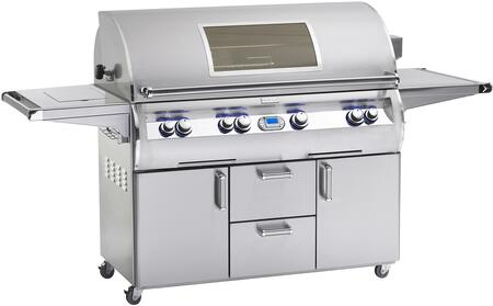 E1060S-4L1N-62-W Echelon Diamond Series Natural Gas Grill 1056 sq. in. Cooking Area  With Single Side Burner  One Infrared Burner And Magic View Window Cart: