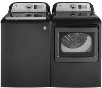 Top Load Speed Wash GTW680BPLDG 27 Washer with Front Load GTD65GBPLDG 27 Electric Dryer in Diamond