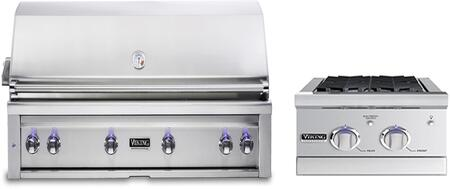 2-Piece Stainless Steel Outdoor Kitchen Package with VQGI5540LSS 54