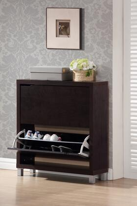FP-2OUS-CAPPUCINO Baxton Studio Simms Modern Shoe Cabinet  In Dark