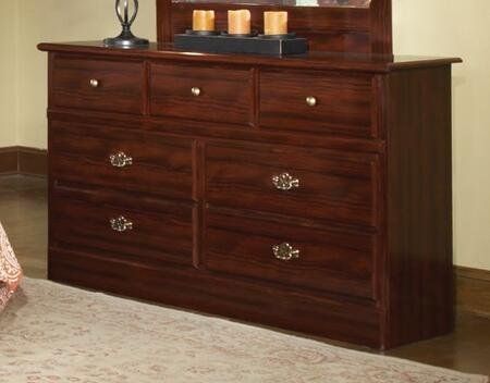 15107 Camp Creek 58 inch  Wide 7 Drawer Dresser in Cherry