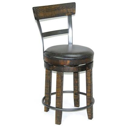 Metroflex Collection 1624TL-B24 24 inch  Stool with Cushion Seat  Heavy Duty Swivel and Rough Sawn Wood Parts in Tobacco