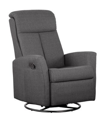 D88498MLR02 Charcoal Reclining Glider  with 360 Degree Swivel -