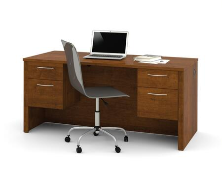 60450-1163 Embassy Executive Desk with Dual Half Peds  Simple Pulls  and Scratches  Stains and Wear Resistant Surface in Tuscany