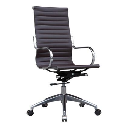 FMI10227-DARK BROWN Twist Office Chair High Back  Dark