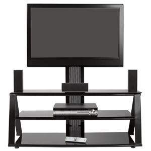 AV8250 Gemini Contemporary Style EZ Snap Home Theater Stand  High Gloss