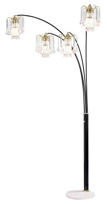 Elouise L99657K Arch Lamp with Black/gold finish  Marble base  Max watt: 40 w each  4 Light in