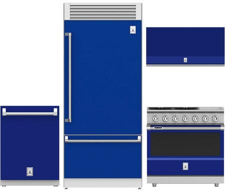 4-Piece Blue Kitchen Package with 36