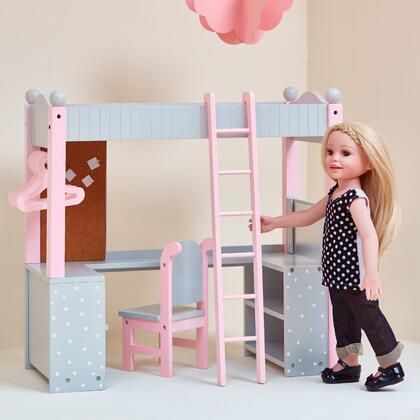 TD0204AG 18 inch Doll Furniture - College Dorm Double Bunk Desk