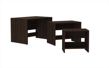 12AMC49 Accentuations by Manhattan Comfort Refined 3 - Saffle Nested Side Table 2.0 with 1 Shelf in