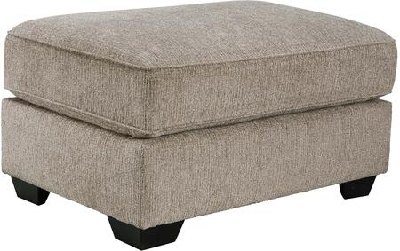 "Pantomine 3910208 39"""" Fabric Oversized Accent Ottoman with Tri-Block Feet  Textured Upholstery and Welt Cord Details in Driftwood"" 693038"