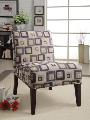 Aberly Collection 59153 30 inch  Accent Chair with Fabric Upholstery and Tapered Legs in Espresso