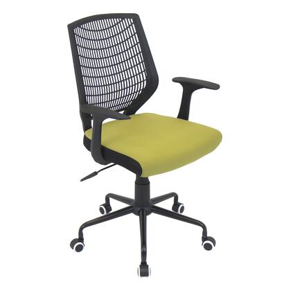 OFC-NET BK+GU Network Contemporary Height Adjustable Office Chair with Swivel in Black and