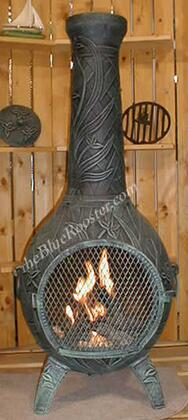 ALCH046AGGKLP Gas Powered Orchid Chiminea Outdoor Fireplace in Antique
