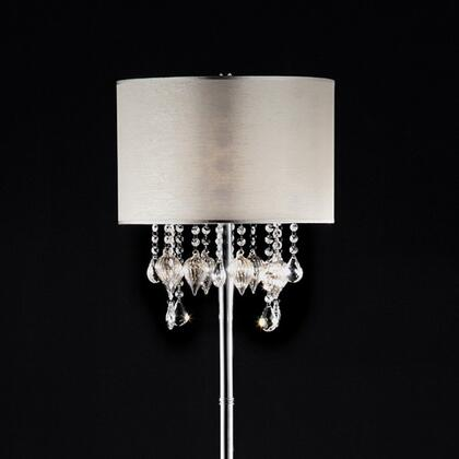 Calypso L95125F Floor Lamp with Metal base  Crystal and glass peach design  Shade size: 15