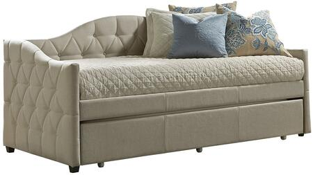 Jamie Collection 1125DBT Twin Size Daybed with Trundle Included  Fabric Upholstery  Decorative Button Tufting and Sturdy Wood Construction in