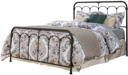 Jocelyn Collection 2087BQ Queen Size Headboard and Footboard Set with Open-Frame Panel Design and Sturdy Metal Construction in Black