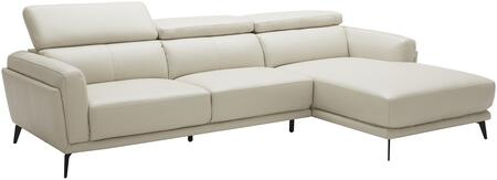 EK-LK385 Collection EK-LK385L-LG 2-Piece Sectional Sofa with Left Arm Facing Sofa and Right Arm Facing Chaise in Light
