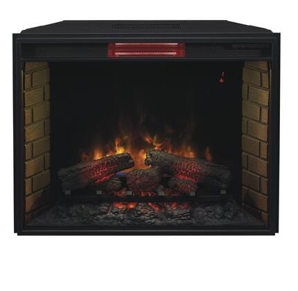 """33II310GRA 33"""" Infrared Spectrafire Plus Electric Fireplace Insert with Remote Control Auto Shut-Off Timer and Tempered Glass Front Display in"""