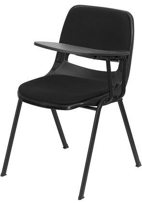 RUT-EO1-01-PAD-LTAB-GG Padded Black Ergonomic Shell Chair with Left Handed Flip-Up Tablet