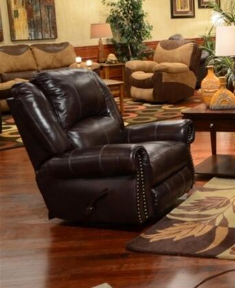 Livingston Collection 64500-6-1274-04/3074-04 41 Power Glider Recliner With Bombay Arms  Pub Back Design  Top Stitch Sewing And Top Grain Leather Touch/match