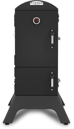 923610 Vertical Charcoal Smoker with 770 sq. inches Primart Cooking Space  4.0 cu. ft.  Adjustable Stainless Steel Cooking Grids  Door Mounted Accu Temp