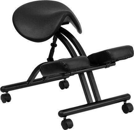 WL-1421-GG Ergonomic Kneeling Chair with Black Saddle