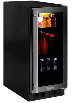 Marvel ML15BCG2RB 15 Wide 3-Bottle and 75-Can Built-in Beverage Center with LED Lighting, Tempered Glass Shelving and Right Door Hinging