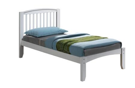 909TWH Twin Premium Arch Mission Bed With Slat-Kit Mattress Ready: