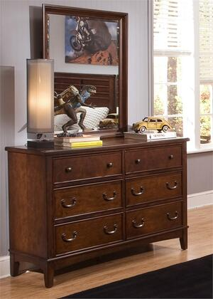 Chelsea Square Collection 628-YBR-DM 2-Piece Bedroom Set with Double Dresser and Mirror in Burnished Tobacco