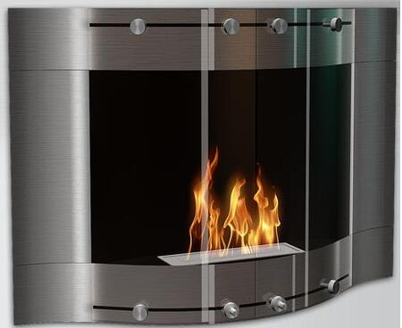 V-101A SS 9800 BTU Bioethanol Liquid Fuel Fireplace: Stainless