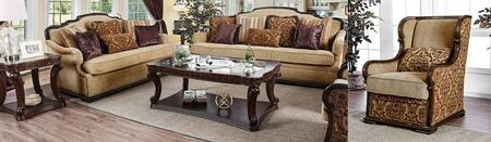 Matilde CM6584-SFLVCHCT 4-Piece Living Room Sets with Sofa  Loveseat  Chair and Coffee Table in Tan and Dark