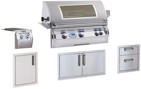 Grill Package with E790I4-E1NW Built In Natural Gas Grill  32814 Double Side Burner  53802SC Double Drawers  53938SC Double Access Doors  53920SC-SL Single