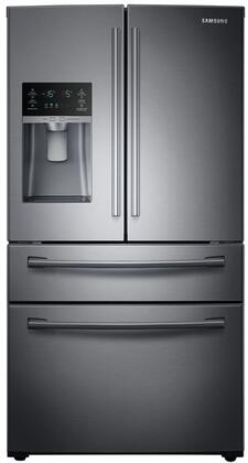 RF28HMEDBSG 36 inch  French Door Refrigerator with 28 cu. ft. Ultra High Capacity  Counter-Height FlexZone Drawer  Twin Cooling Plus  Ice Master  EZ-Open Handle and
