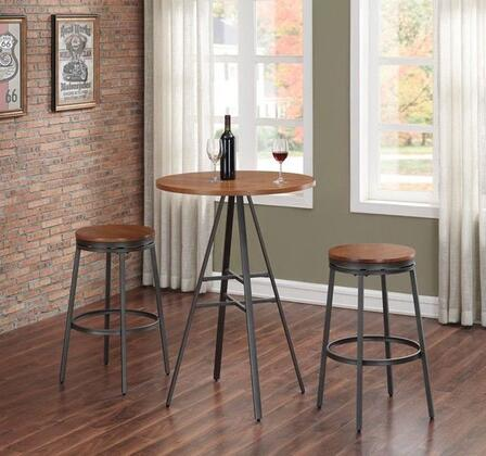 Stockton P1-101-B100-3PC 3PC Pub Height Table Set with Backless Swivel