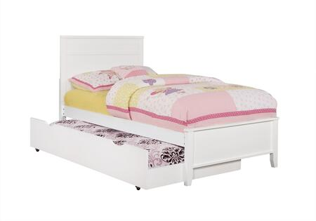 Ashton Collection 400761T+400766 Twin Size Panel Bed with Trundle  Clean Line Design  Low Profile Footboard  Sleek Tapered Legs and Wood Construction in