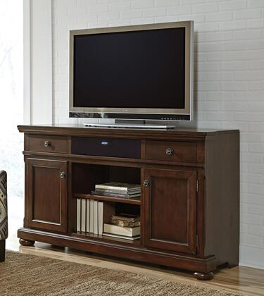 Porter Collection W697-132A31 2-Piece Set with TV Stand and W100-31 Small Integrated Audio Unit in Rustic