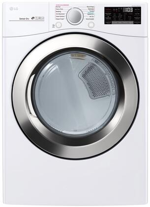 LG DLGX3701W 7.4 Cu. Ft. White Gas Dryer with Steam