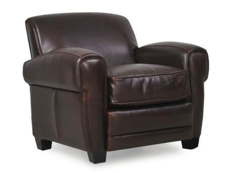 Havana Collection 61401E/3066 38 inch  Chair with Top Grain Leather Upholstery  Track Arms and Tapered Legs in Classic
