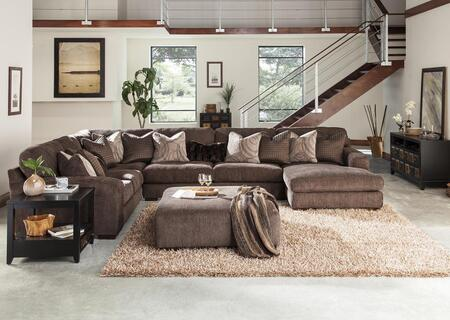 Serena Collection 2276-46-59-30-76-2772-69/2773-59/2774-28/2929-69 166 inch  4-Piece Sectional with Left Arm Facing Loveseat  Corner Section  Armless Sofa and Right
