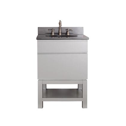 TRIBECA-VSB24-CG-A Avanity Tribeca 24 in. Vanity Combo with Base in Chilled Gray