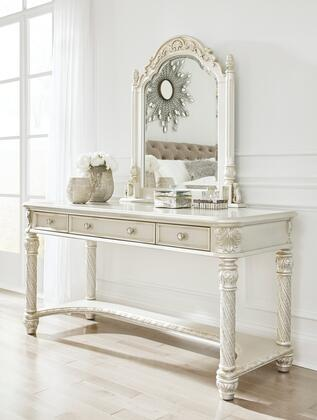 Cassimore Collection B750-22-25 Vanity Set with Vanity and Vanity Mirror in Pearl