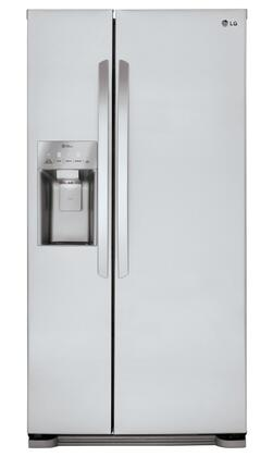 LG 22.1 Cu. Ft. Side-by-Side Refrigerator with Thru-the-Door Ice and Water Stainless Steel LSXS22423S
