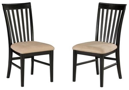 MISSIONDCOCES Mission Collection Set of 2 Dining Chairs with Oatmeal Seat Cushions: